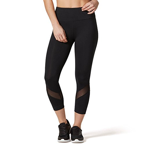 VUTRU Workout Leggings Yoga Capris Mesh Tights Gym Fitness Pants w Hidden Pocket Yoga Leggings for Women