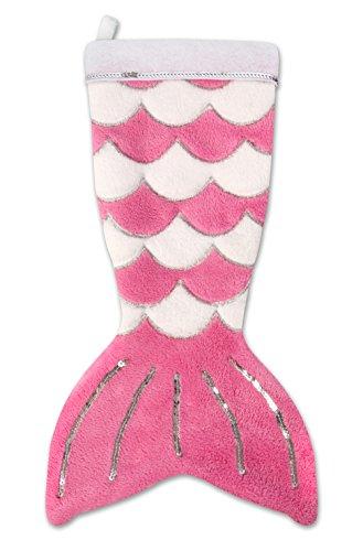 Fin Fun Mermaid Tail Christmas Stocking - Pink ()