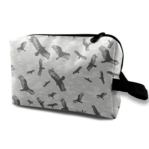 Bird Pattern Cosmetic Bags Makeup Organizer Bag Pouch Zipper Purse Handbag Clutch Bag