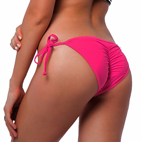 d6375210f02 Fittoo Sexy V Cut Bikini Bottom Tie Sides for women Cheeky Booty T-Back  Ladies Swimsuit Pink M - Buy Online in Oman. | Misc. Products in Oman - See  Prices, ...