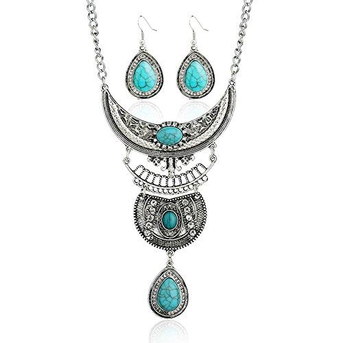 diamondo-tibetan-silver-blue-turquoise-chain-crystal-pendant-necklace-multicolor
