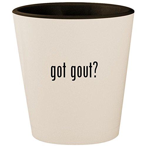 got gout? - White Outer & Black Inner Ceramic 1.5oz Shot Glass