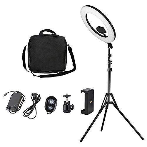 18 inch Ring Light with Stand Dimmable Selfie LED Ring Light with Carrying Bag for LED Lighting/Live Stream/Makeup…