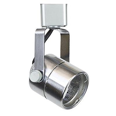 Direct-Lighting 50154 Brushed Steel GU10 Line Voltage Track Lighting Head - No Bulb