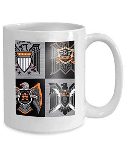 mug coffee tea cup eagle shield crest badges various badge suitable multiple uses 110z