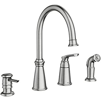 Moen 87044SRS One Handle High Arc Kitchen Faucet, Spot Resist Stainless
