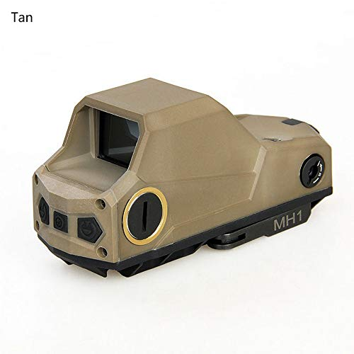 MH1 Tactical Red Dot Sight Scope Reflex Sight Holographic Dual Motion Sensor Rifle Sight Night Vision Scope with QD Quick Detach Mount Scope TAN (Best Red Dot For Night Vision)
