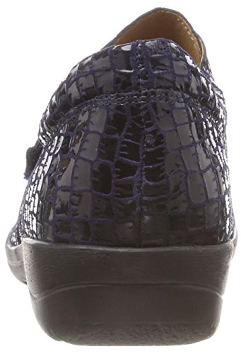 CAPRICE 24652 Damen Slipper Croc 868 Ocean Blau pat rq1rwUF