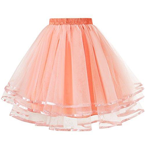 Shake It Off Dance Costume (LaceLady Women's Vintage Petticoat Tutu Underskirt Crinoline Dance Slip With Belt Mint L)