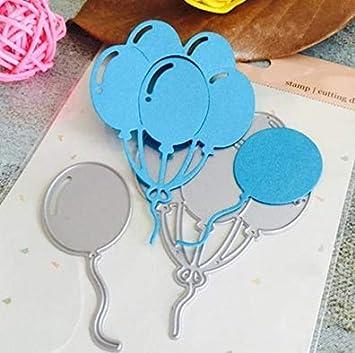T.Sewing 1PCS Artesanías DIY Papel Cuchillo de Acero al Carbono Troquelado Plantilla Muere (Globo): Amazon.es: Hogar