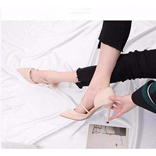 f59dcf22 Lovely GTVERNH-8Cm Los Zapatos De Tacón Alto La Chica En La Primavera Y El