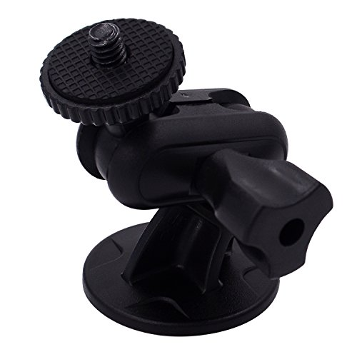 iSaddle CH01C 1/4-20 Thread Camera Mini 3M Double-Sided Adhesive Mount Tripod Holder Universal On Dash Cam Mount Holder