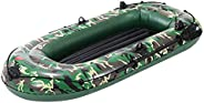 Inflatable Boat, Thickened Heavy Duty Inflatable Boat, 2/3 People Portable Drifting Boat Kayak with Air Pump R
