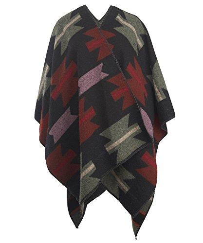 Woolrich Unisex Forest Ridge Jacquard Poncho Geronimo Jacquard One Size by Woolrich