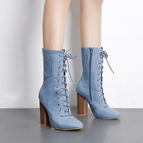 60%OFF ALUK con Otoño e invierno zapatos con tacón alto con ALUK botas 3a0d46
