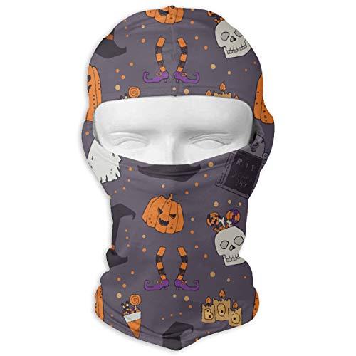 ElephantAN Halloween Pumpkins Headstone Witches Hat Balaclava - Windproof Ski Face Mask Hood Versatile Headband Bandanas Headscarf Neck Gaiter Helmet Liner Riding for Women Men Outdoors UV Protection