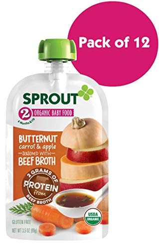 Carrot Bone (Sprout Organic Stage 2 Baby Food Pouches, Butternut Carrot & Apple w/ Beef Broth, 3.5 Ounce (Pack of 12))