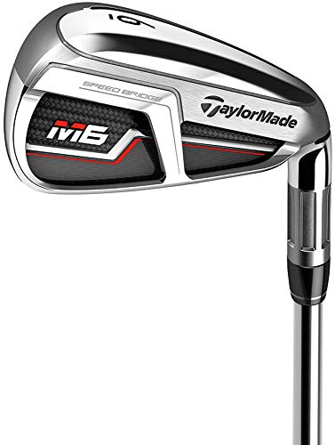TaylorMade Golf M6 Iron Set, 4-PW, Left Hand, Regular Flex Shaft: Fujikura Atmos Orange