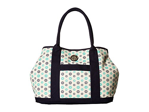 Tommy Hilfiger Women's TH Totes - Printed Canvas Shopper Natural/Navy/Green - Hilfiger Tommy Height