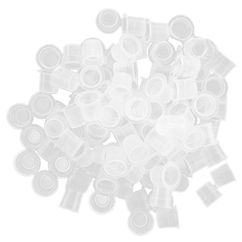 TOOGOO(R) 1000 Pcs Transparent Plastic Tattoo Ink Cup Pigment Cap