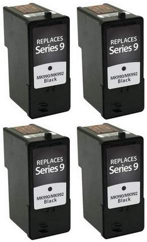 Series 9 SuppliesMAX Compatible Replacement for Dell 926//V305//V305W Black Inkjet GNGKF/_4PK 4//PK