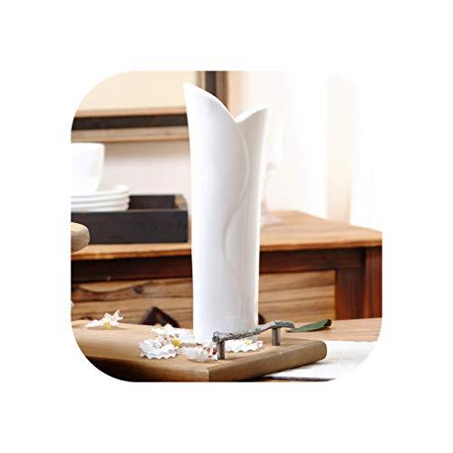 Modern Stylish Geometric Ceramic Vase White Flower Vase Modern Decor Flower Vase Ceramic Wedding Decor MattVase,E