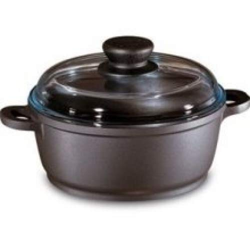 Berndes 674437 Tradition 6.75-Inch, 1.25-Quart Dutch Oven with Glass Lid ()