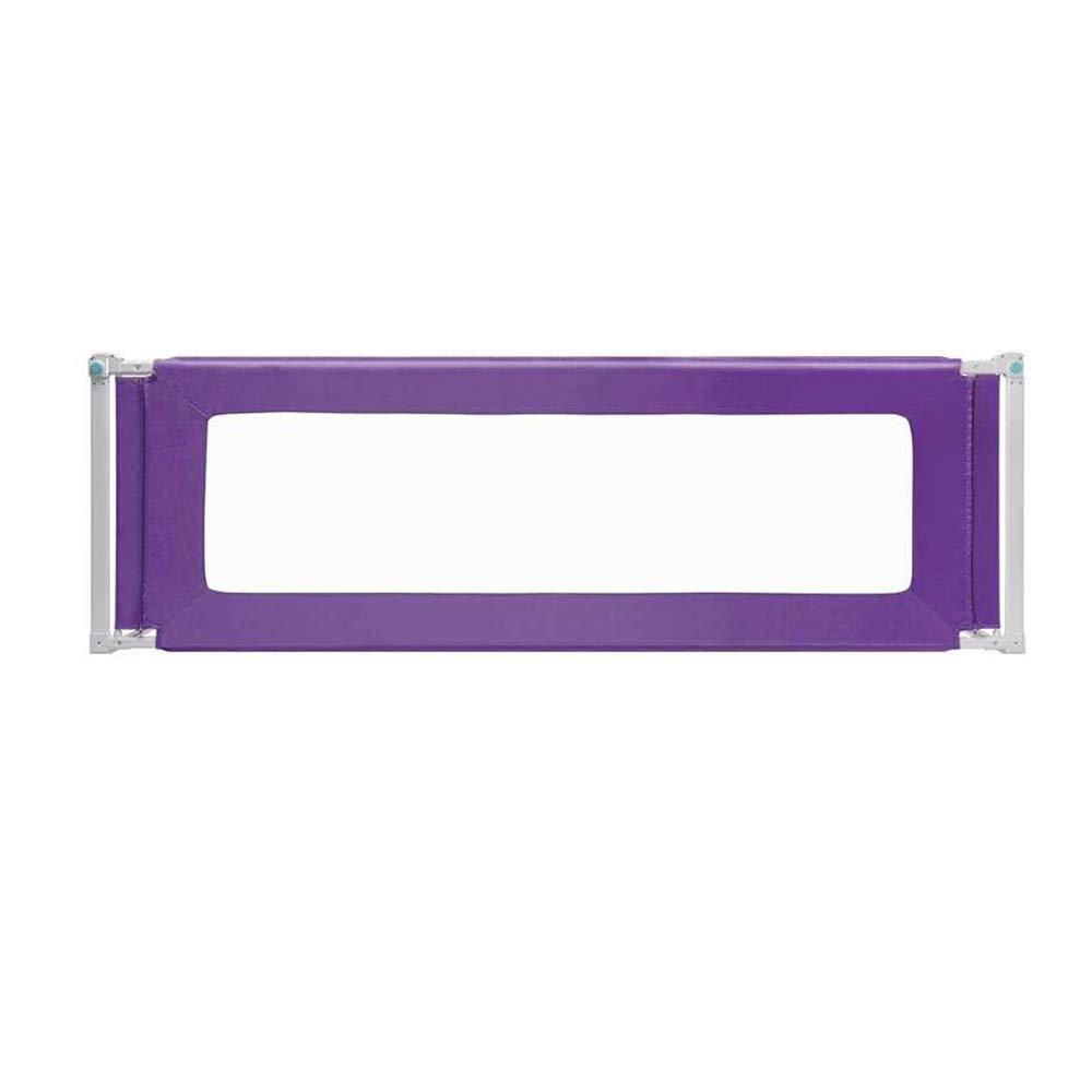 LHA ベッドガードフェンス 子供用落下防止ベッドガードレールベッドバッフル-150cm、180cm、200cm * 80cm (色 : Purple, サイズ さいず : L-200cm) L-200cm Purple B07MHRNQGW
