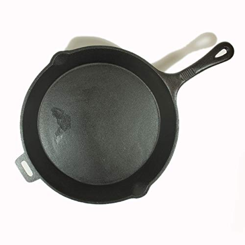 - Old Mountain Pre Seasoned 10104 12 Inch x 2 Inch Skillet with Assist Handle