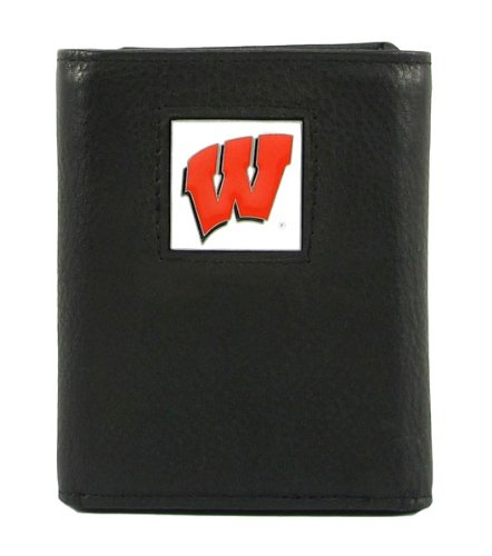 Wisconsin Badgers Black Leather - 4