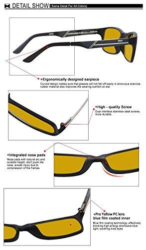 8b49b26ada Duco Computer Glasses for Video Games 223 Anti-Glare Protection Anti ...