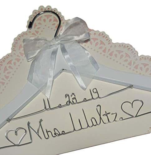 White Wedding Dress Hanger: Amazon.com: Bride Wedding Dress Hanger