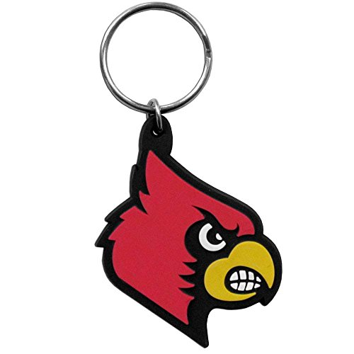 NCAA Louisville Cardinals Team Logo Flex Key (Louisville Keychain)
