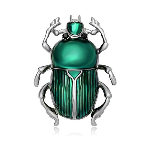 MANZHEN Multi-color Enamel Beetle Bug Insect Brooch Pin (Enamel Beetle)