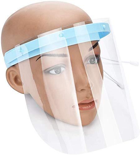 Máscara Anti y Saliva película Protectora Máscara Médica, 10 Piezas Careta Protectora de la película de Recambio para el Marco Ajustable Visera 6