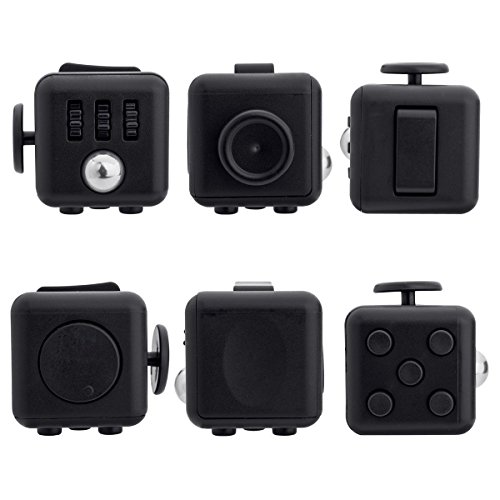 VHEM Fidget Cube Relieves Stress And Anxiety for Children and Adults Anxiety Attention Toy, Black