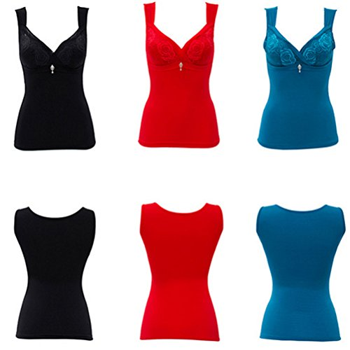 Zhhlaixing alta calidad New Ladies Warm Underwear Quality Material Thin Warm Abdomen Care Chest Slim Vest Red