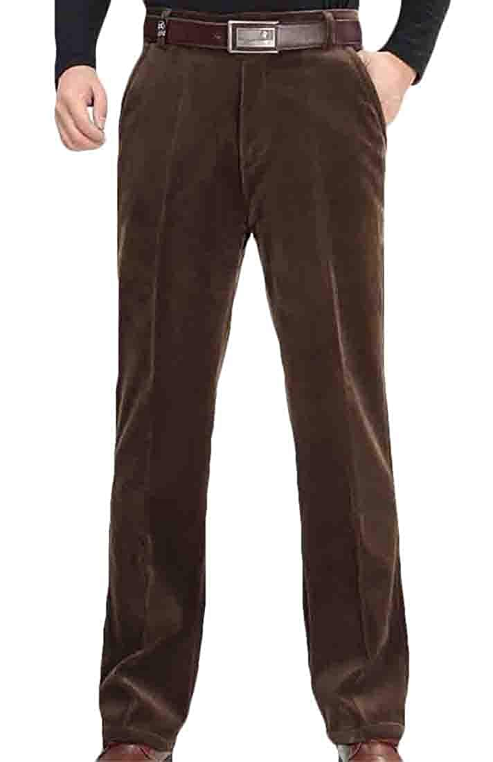 Gocgt Mens Corduroy Low-Rise Heathered Hidden Expandable Classic Fit Hot Pants
