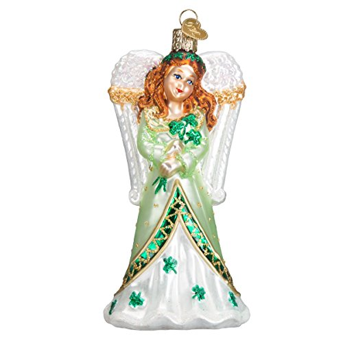 Old World Christmas Irish Angel Glass Blown Ornament