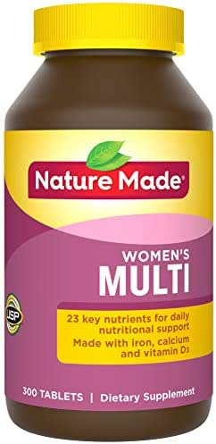 Nature Made Women's Multivitamin Tablets, 300 Count for Daily Nutritional Support† (Packaging May Vary)
