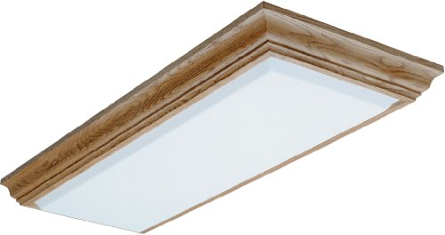 Lithonia Lighting 11432RE OA Cambridge Linear T8 Flush Mount Ceiling Light, Oak
