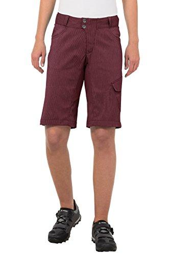 VAUDE Damen Hose Women's Tremal Zip Off Shorts, Claret Red, 36, 05485