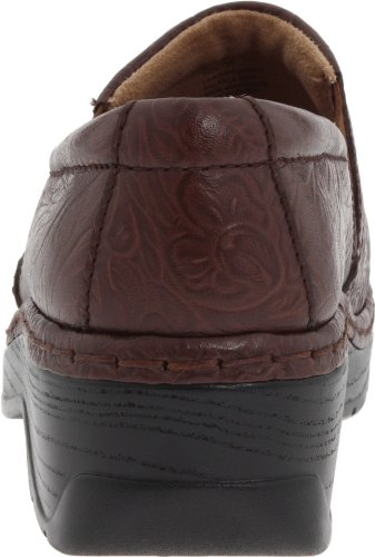 Naples Back Closed Footwear Women's Nursing KLOGS Clog Leather Coffee Tooled wSFEa
