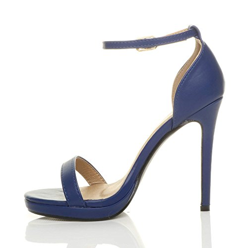 Matte Barely Size There Women Ajvani Navy Sandals High Heel qU8ngB