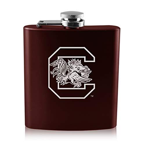 LXG, Inc. University of South Carolina -6 oz. Color Stainless Steel Flask-Burgundy