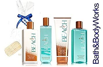 Bath and Body Works At The Beach Set Lotion Body Cream Fragrance Mist Shower Gel Lot Of 4 Full Size