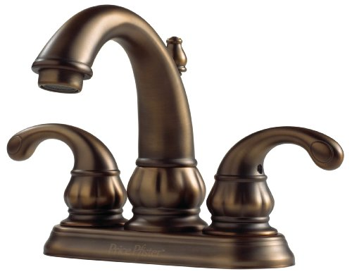 viso 2-Handle 4 Inch Centerset Bathroom Faucet in Velvet Aged Bronze ()
