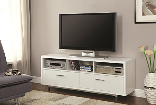 Asian Sofa Sectional (Coaster Home Furnishings 2-Drawer TV Console with 3 Storage Compartments White)