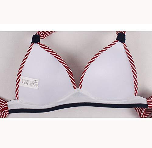 Syt Costume Vita Bikini Bagno Scollo Donna Triangolo Slim In A Da Alta Stripes Con Swimwear Br5zwqB