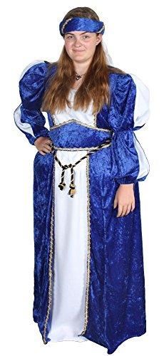 Alexanders Costumes Women's Queen Ann, Blue, Medium (Renaissance Skirt & Hat)